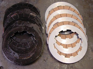 burnt clutch plates