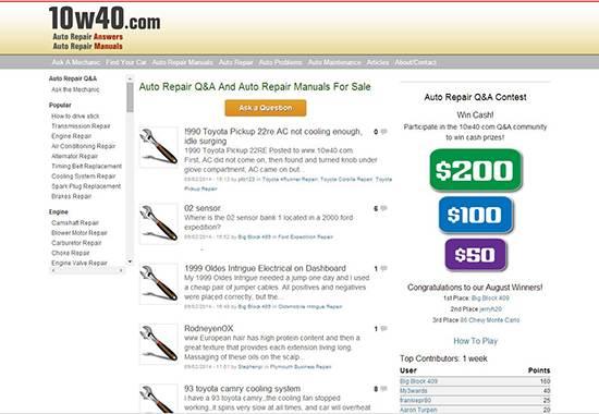 10w40 - auto repair help websites