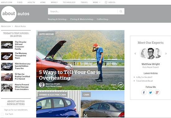 About Autos - auto repair help websites