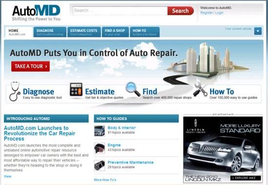 AutoMD - auto repair help websites