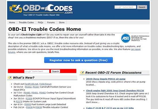 OBD-Codes - auto repair help websites