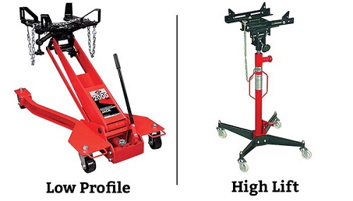 transmission jack designs - low profile and high lift